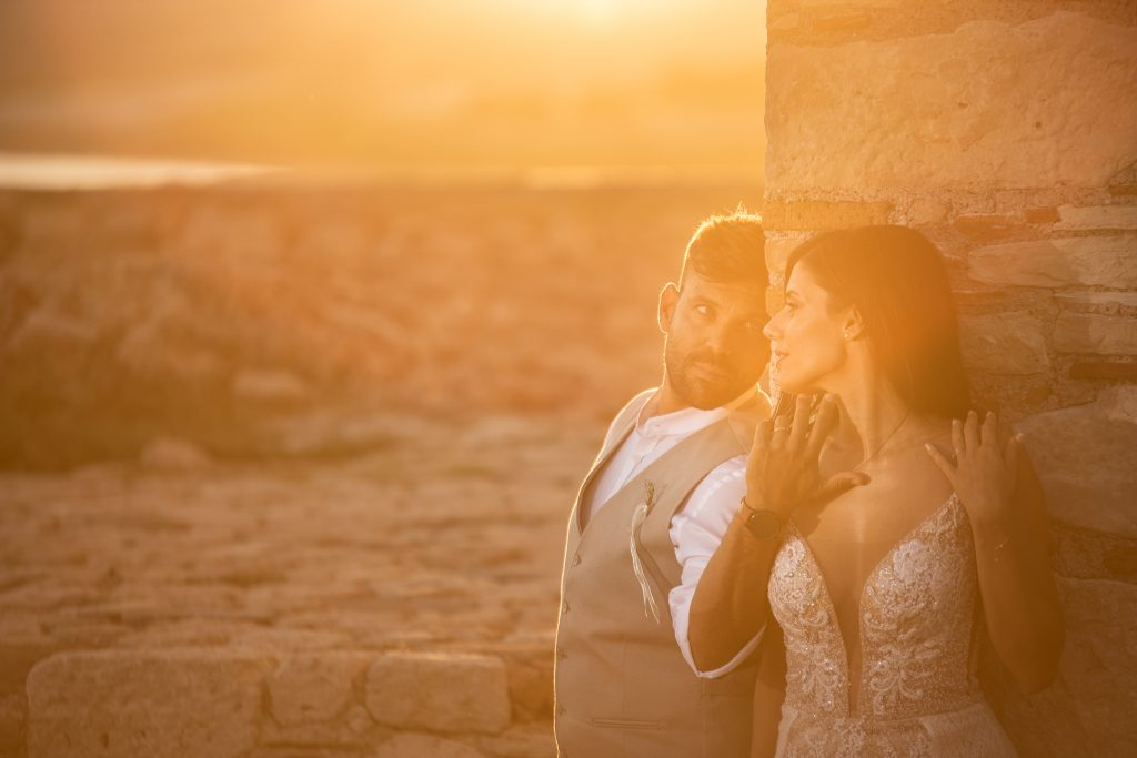 romantic wedding in Greece